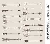 hand drawn arrows clip art... | Shutterstock .eps vector #220499137