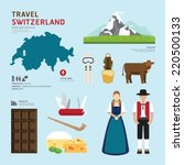 travel concept switzerland... | Shutterstock .eps vector #220500133