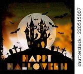 happy halloween illustration.    Shutterstock .eps vector #220515007