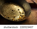 finding gold. gold panning or... | Shutterstock . vector #220523407