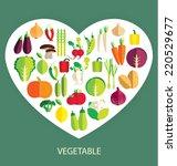 vegetables vector illustration | Shutterstock .eps vector #220529677
