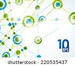 eps10  molecular structure ...   Shutterstock .eps vector #220535437