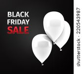 black friday sale icon with... | Shutterstock .eps vector #220543987