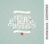 Christmas Type Design   Vector...