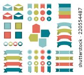 infographic set of flat...