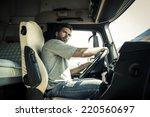portrait of a truck driver | Shutterstock . vector #220560697