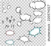 make your own explosion clouds... | Shutterstock .eps vector #220574317
