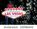 welcome to fabulous las vegas... | Shutterstock . vector #220586443