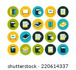 flat icons set 21   book...
