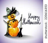 pumpkin witch | Shutterstock .eps vector #220616353