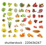 collection of fruit isolated on ... | Shutterstock . vector #220636267