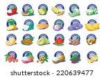 tropical fruit  thai fruit | Shutterstock .eps vector #220639477