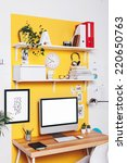 office workplace with computer. ...   Shutterstock . vector #220650763