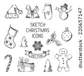 Hand Drawn Christmas Icons....