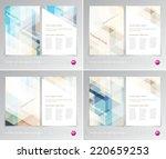 vector flyer design templates... | Shutterstock .eps vector #220659253