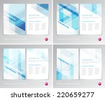 vector flyer design templates... | Shutterstock .eps vector #220659277