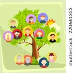 family tree  vector illustration | Shutterstock .eps vector #220661323