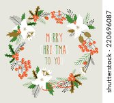 "card with flowers. ""merry... 