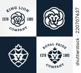 Set Of Lion Logo Templates  Fo...