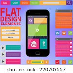 flat web design  elements ...