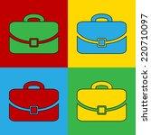 pop art portfolio icon. vector... | Shutterstock .eps vector #220710097