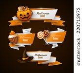 halloween banners set | Shutterstock .eps vector #220713973