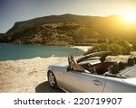 women traveling in a... | Shutterstock . vector #220719907