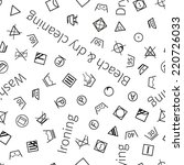 laundry symbols on white... | Shutterstock .eps vector #220726033