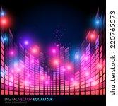 Illustration Of Music Equalize...