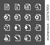 file document icon set  vector... | Shutterstock .eps vector #220767853