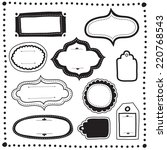 doodle labels and tags set  ... | Shutterstock .eps vector #220768543