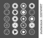 camera shutter icon set  vector ... | Shutterstock .eps vector #220769497