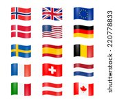 set of swung country flags | Shutterstock .eps vector #220778833