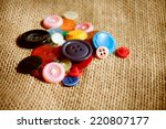 colored buttons background | Shutterstock . vector #220807177
