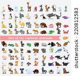 super set of 92 cute cartoon... | Shutterstock .eps vector #220812583