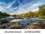 mountain fast flowing river... | Shutterstock . vector #220816483