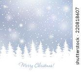 christmas elegant vector  card... | Shutterstock .eps vector #220818607