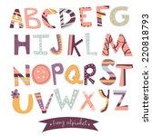 bright alphabet set in vector.... | Shutterstock .eps vector #220818793