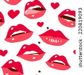 sexy lips seamless pattern ... | Shutterstock .eps vector #220819093