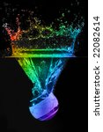 rainbow colors in a water... | Shutterstock . vector #22082614