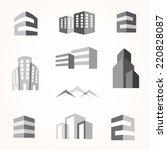 vector city buildings... | Shutterstock .eps vector #220828087