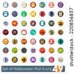 set of halloween flat icons | Shutterstock . vector #220856857