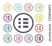 list flat icons set. open round ... | Shutterstock .eps vector #220856893