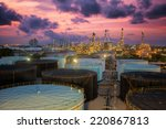 oil refinery at twilight sky | Shutterstock . vector #220867813