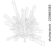 abstract 3d cubes vector... | Shutterstock .eps vector #220883383