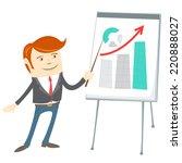 illustration of  office man... | Shutterstock . vector #220888027