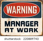 vintage metal sign   warning... | Shutterstock .eps vector #220889743