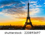 view of the eiffel tower at... | Shutterstock . vector #220893697