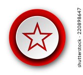 star red modern web icon on... | Shutterstock . vector #220898647