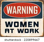 vintage metal sign   warning... | Shutterstock .eps vector #220899667